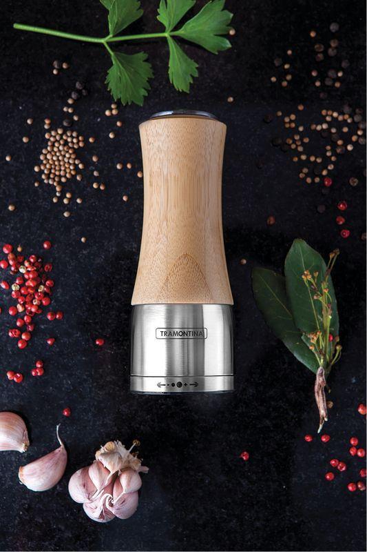 Moedor Bambú / Aço Inox Tramontina Realce Sal e Pimenta 61652/000