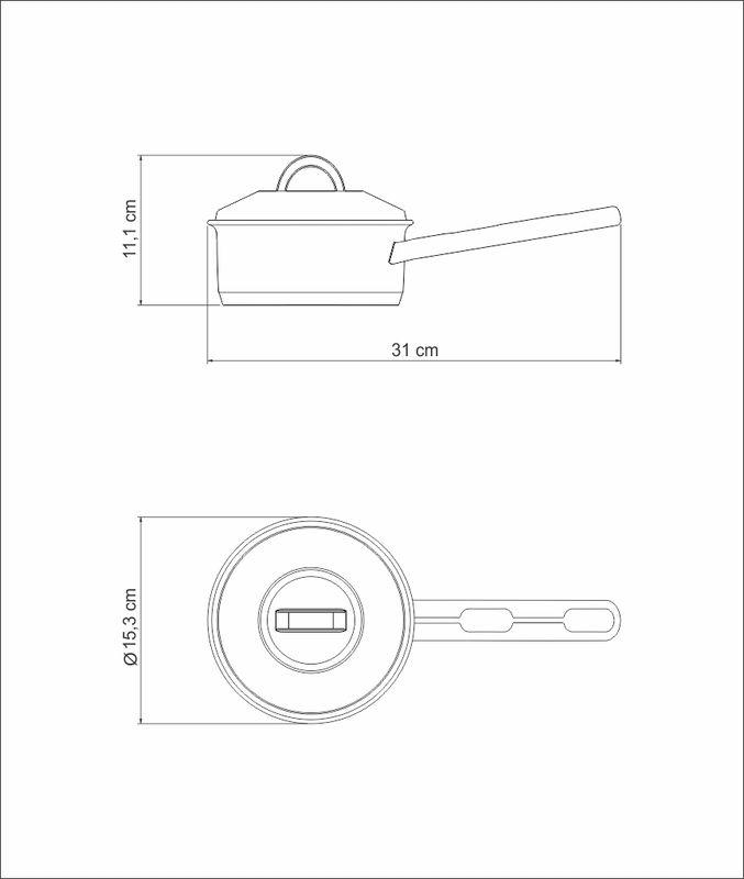 Panela Cocotte em Aço Inox Fundo Triplo Com Tampa 14 cm 1,10 Litros Tramontina Solar 62501/140