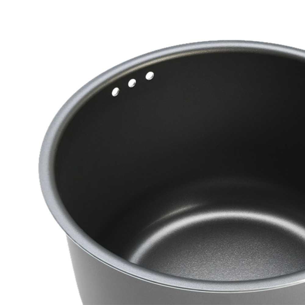 Pipoqueira em Alumínio Antiaderente Prata Tampa de Vidro Brinox Pic Poc 22 cm 7100/154