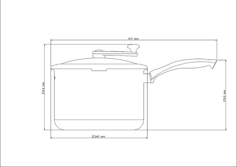 Pipoqueira em Alumínio Antiaderente Tampa de Vidro Tramontina My Lovely Kitchen 22 cm 6 Litros 27807/034