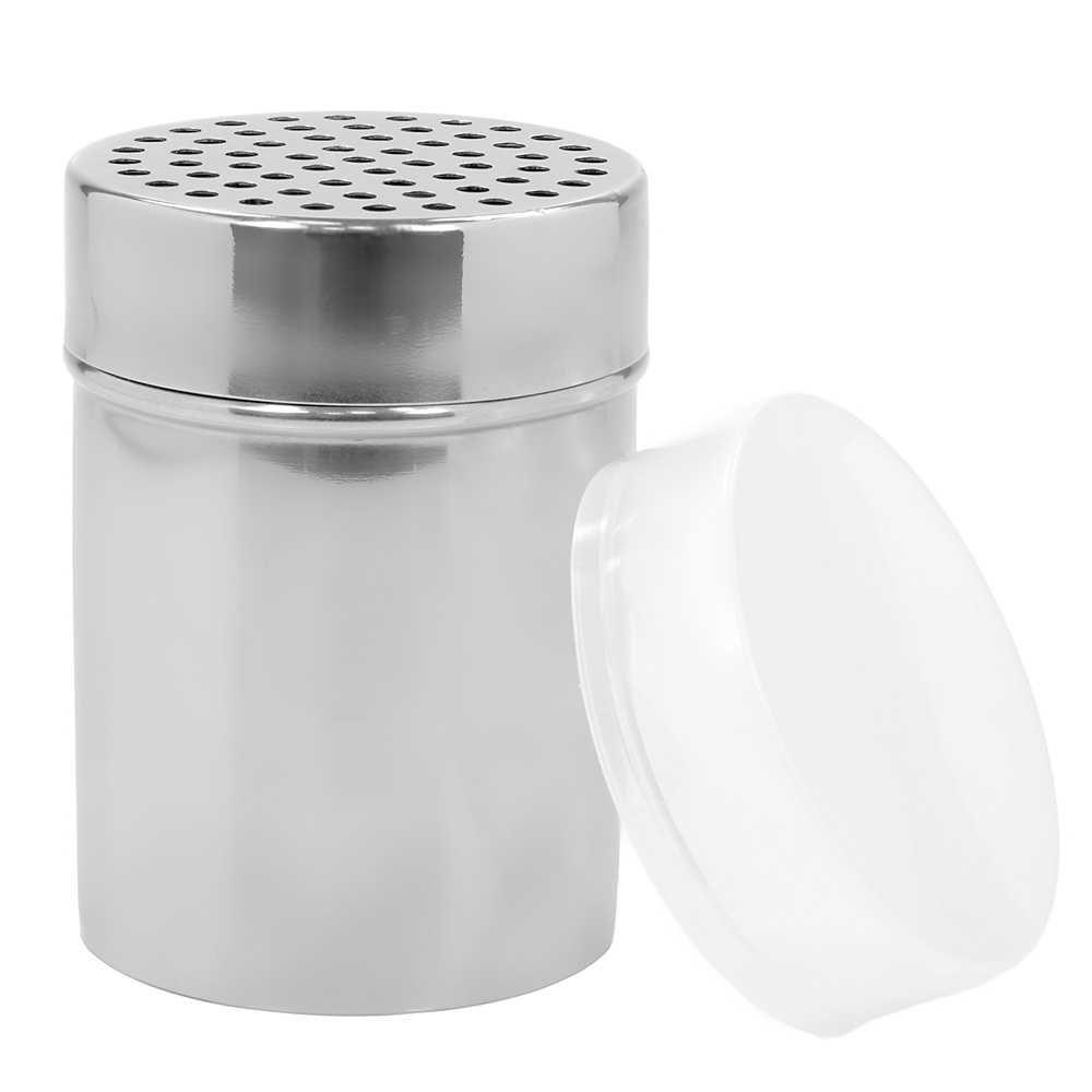 Porta Queijo Ralado Queijeira Aço Inox 300g Gourmet Mix GX0077