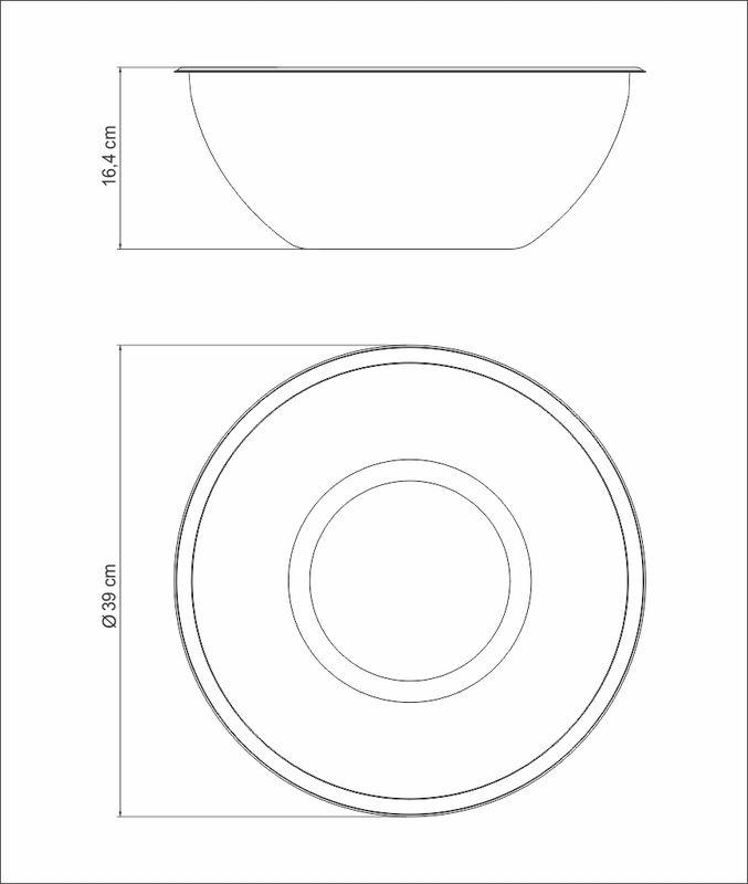 Pote BOWL / Recipiente em ACO INOX Tramontina Freezinox 36 CM 12,3 Litros 61224/361