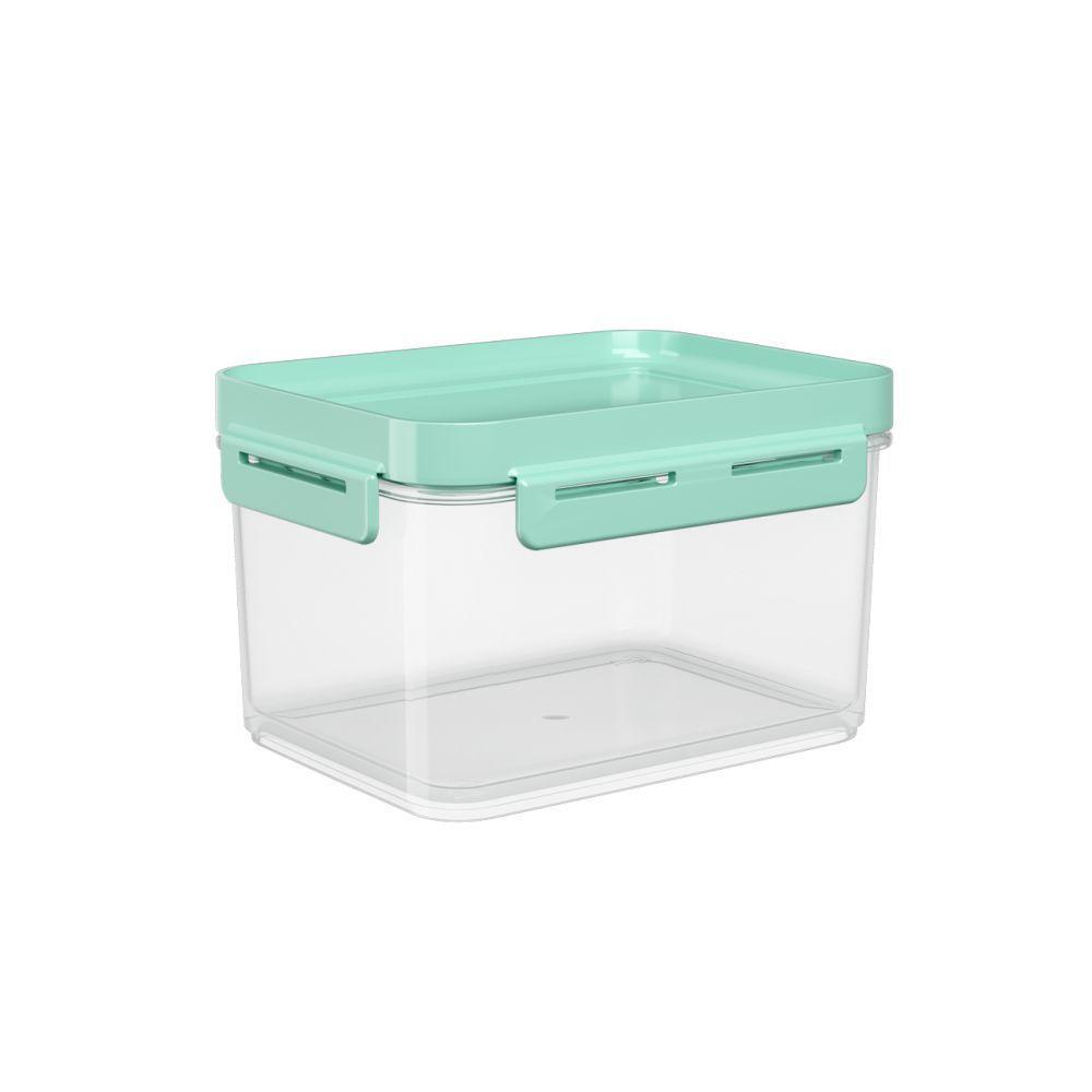 Pote Hermético 1,5 Litros Micro-Ondas, Freezer Coza Flap Tampa Verde 63004/0473