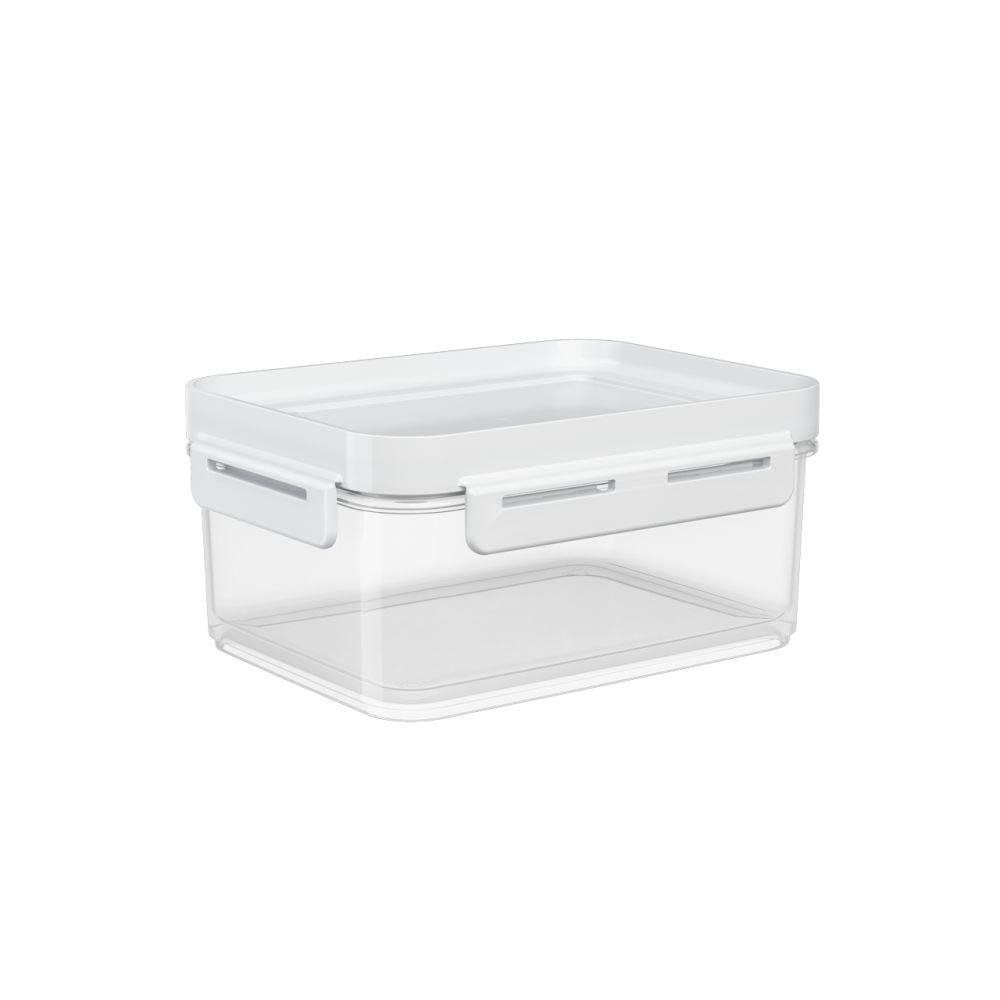 Pote Hermético 1 Litro Micro-Ondas, Freezer Coza Flap Tampa Branca 63003/0007