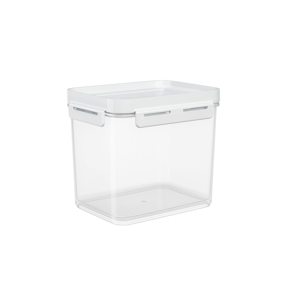 Pote Hermético 2,20 Litros Micro-Ondas, Freezer Coza Flap Tampa Branco 63005/0007