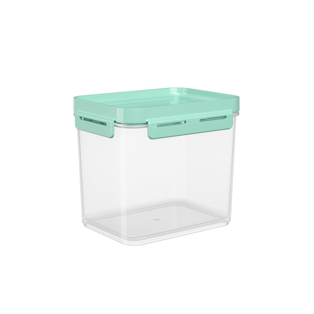 Pote Hermético 2,20 Litros Micro-Ondas, Freezer Coza Flap Tampa Verde 63005/0473