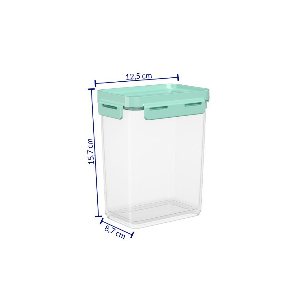 Pote Hermético 900 ml Micro-Ondas, Freezer Coza Flap Tampa Verde 63002/0473