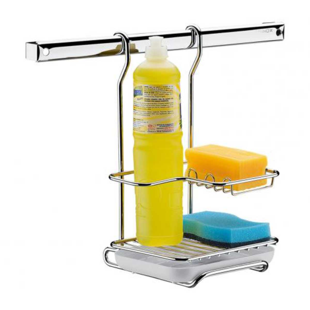 Suporte de Parede Para Sabão, Detergente e Esponja Brinox Top Pratic 2200/012