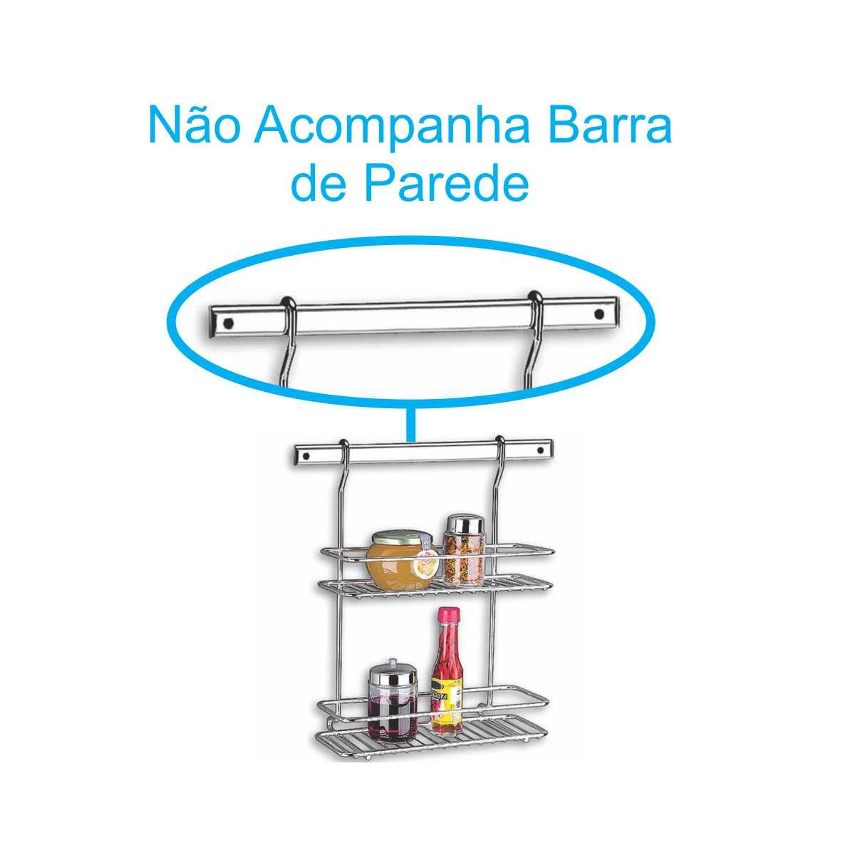 Suporte de Parede para Sabao, Detergente e Esponja Brinox TOP Pratic 2200/012
