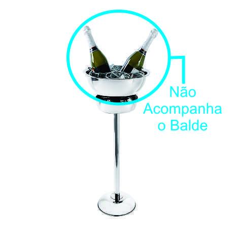 Suporte Para Balde de Gelo / Champanheira 60 X 20 cm Em Aço Inox Brinox Arienzo 1656/220