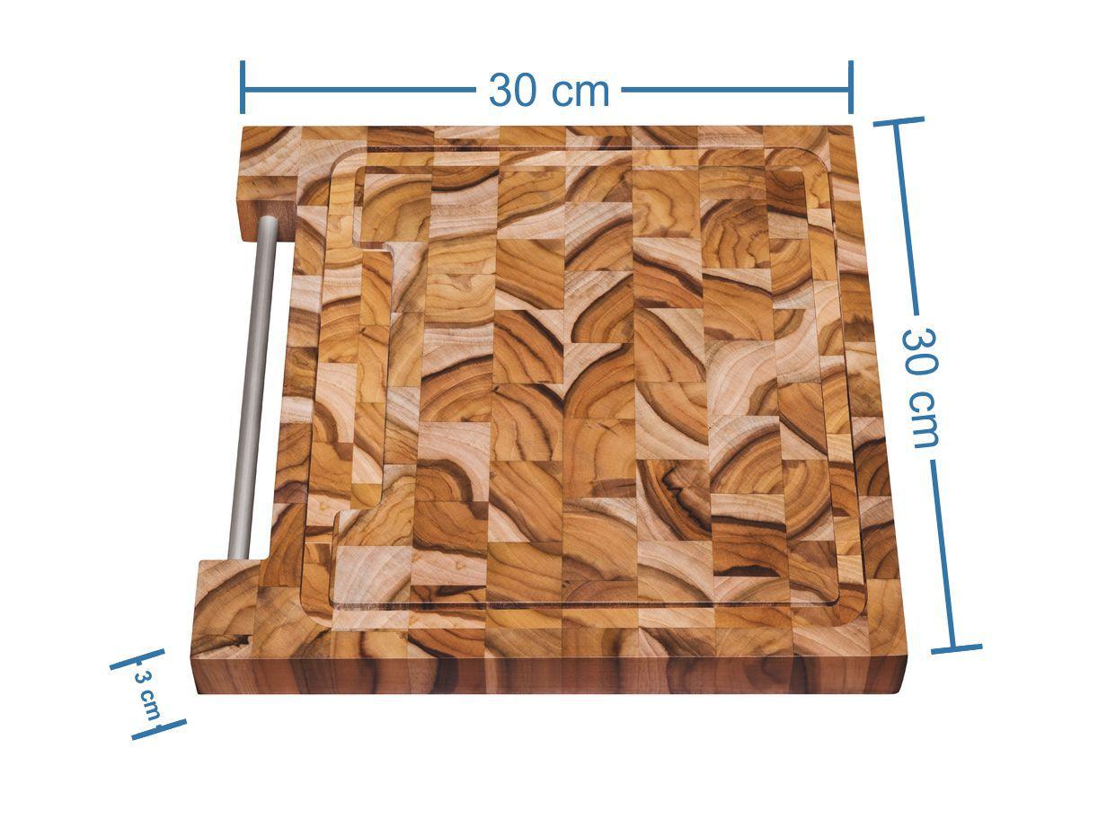 Tábua Para Churrasco em Madeira Invertida Teca Tramontina 30 x 30 cm 10100/050