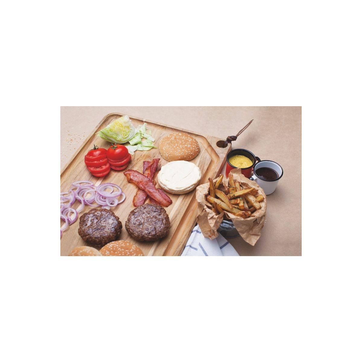Tábua Para Churrasco em Madeira Teca Com Tira em Couro Tramontina 60 x 36 cm 13215/052