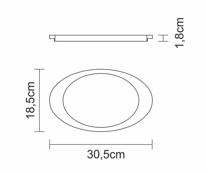 Tábua Para Churrasco Tramontina Mix Gril Oval Ferro Fundido Com Cabo Base em Madeira Teca 30,5 x 18,5 cm 10239/638