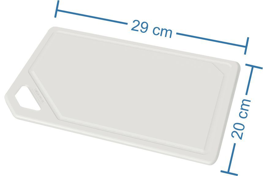 Tábua Para Corte em Polipropileno Branca Tramontina Utilitá 29 x 20 cm 29801/020