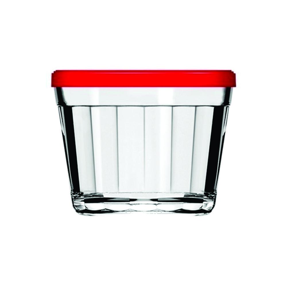 Tigela Redonda de Vidro 150 ml Com Tampa Colorida Nadir Figueiredo Americano 4210
