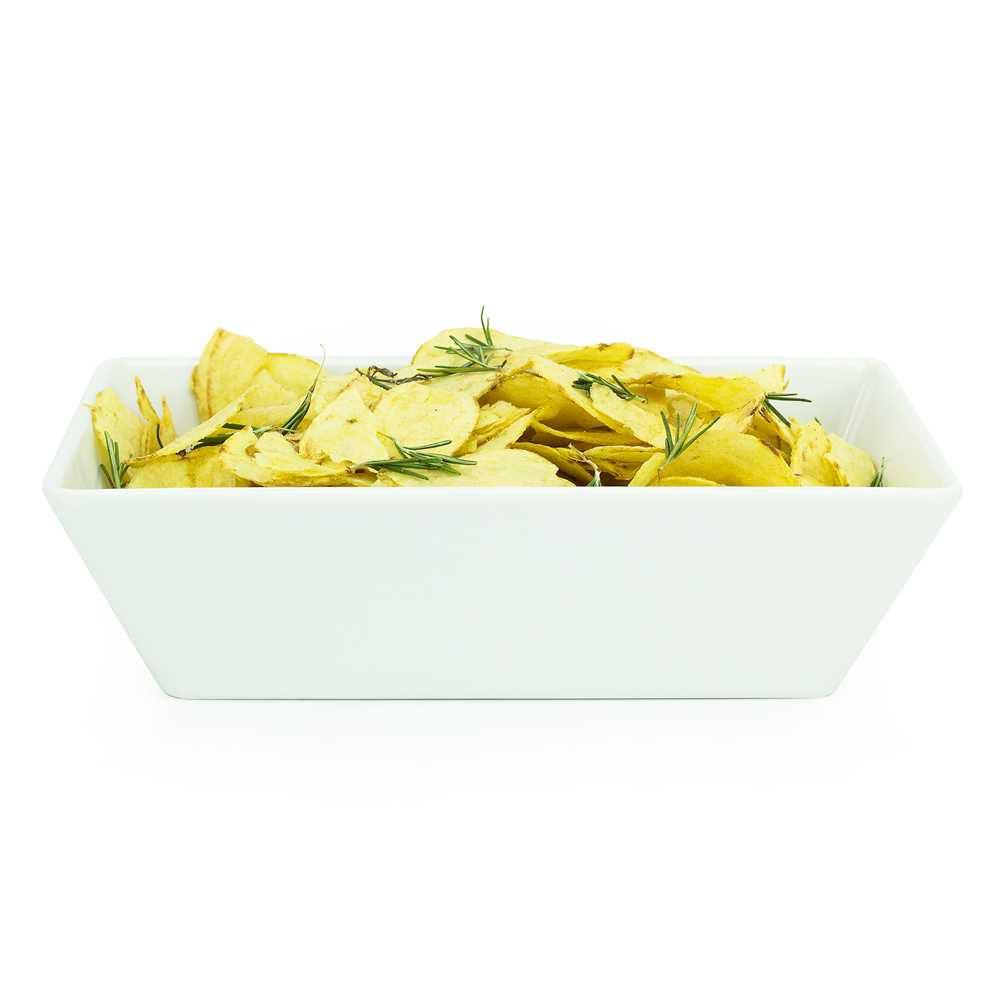Travessa Buffet 25 X 15 cm 1100 ml Branco Em Melamina 100% Profissional Gourmet Mix GX5389
