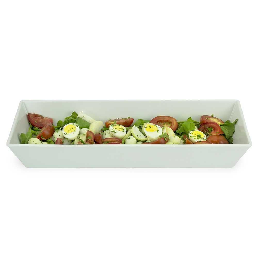 Travessa Buffet 50 X 20 cm 3,8 Litros Branco Em Melamina 100% Profissional Gourmet Mix GX5392