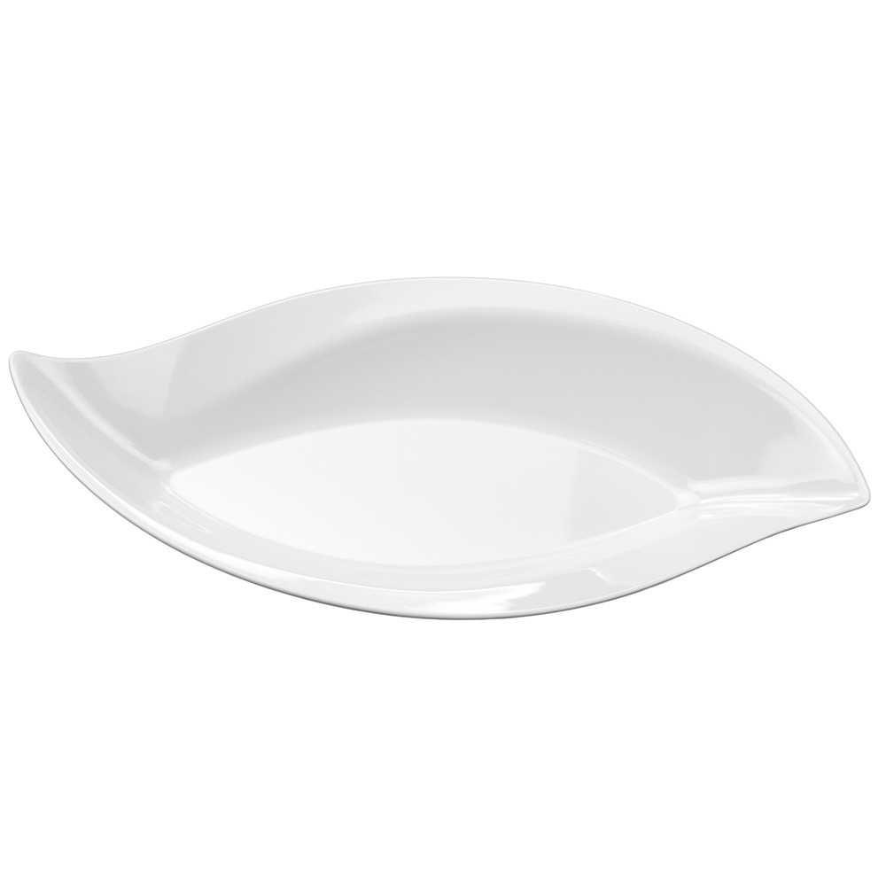 Travessa Funda Folha Buffet 50 cm 1,40 Litros Branco Em Melamina 100% Profissional Gourmet Mix GX5403