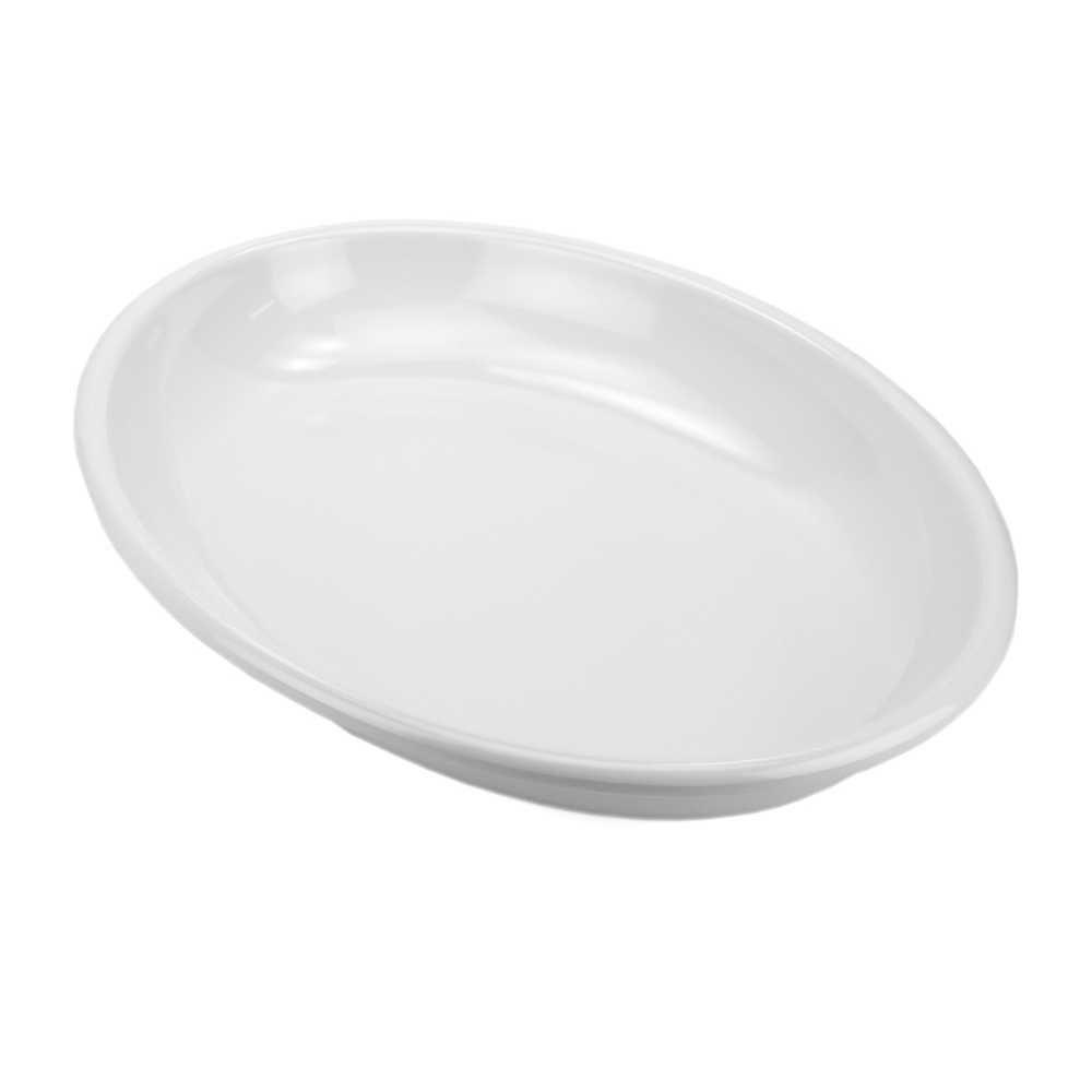 Travessa Oval 45 X 32 cm 2,50 Litros Branco Em Melamina 100% Profissional Gourmet Mix GX5318