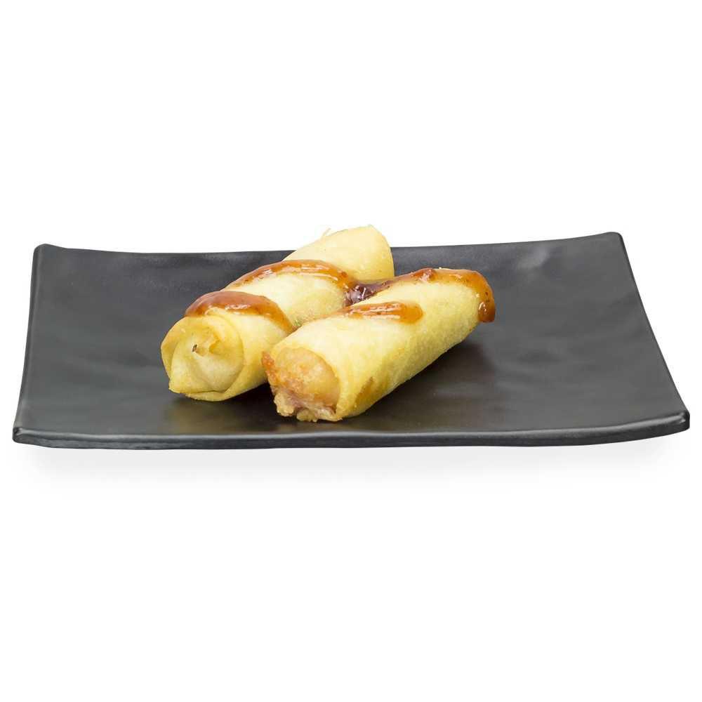 Travessa Retangular Com Detalhes 20 X 14 cm Preto Em Melamina 100% Profissional Gourmet Mix GX5362
