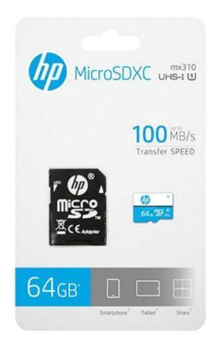Cartão de Memória 64GB Micro SD HP Classe 10 Full HD (1080p)