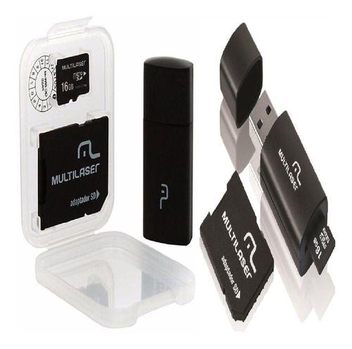 Kit 2 Cartão Memória 16gb Classe 10 Multilaser Mc112 3 X1 Sd