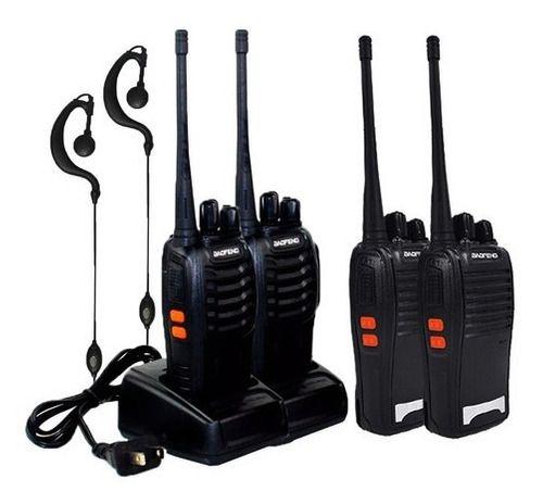 Kit 4 Radio Comunicador Faixa Comunicação 1 A 3km Quilômetro