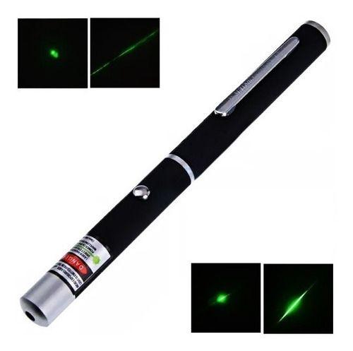 Caneta Laser Point Verde 7km Jogo Luz Apresentação Palestras