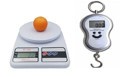 Kit Balança Digital 10kg, balancinha suspensa ate 40kg