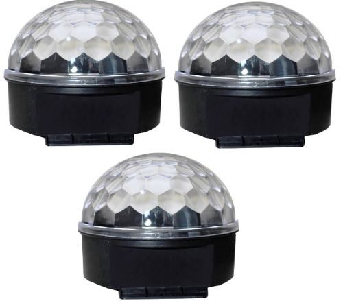 Kit 3 Bola Maluca Multicor Led Ideal Clubes Balada E Eventos