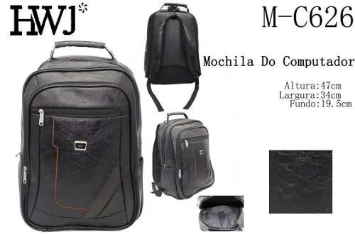 Mochila C/ Cabo De Aço Reforçada Notebook Bolsas Masculinas