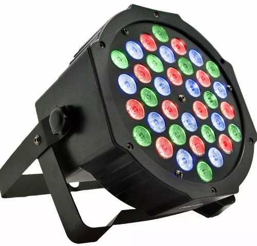 Refletor Canhão Luzes Dj Rgb 36 Leds Light Para Festa Bivolt
