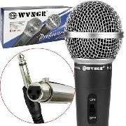 Microfone Wvngr M-58 Com Fio Dinâmico Cultos Aniversários
