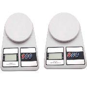 Kit 2 Balança Digital Eletrônica Precisão 1g 10kg Alimentos