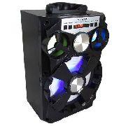 Caixa de Som Rádio Fm Portátil Bluetooth Entrada Aux Usb Mp3 Bivolt automatico