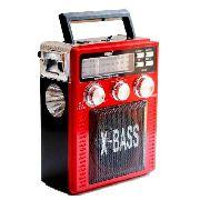 Rádio Am Fm Sw Usb Cartão Sd Mp3 Auxilia P2 Lanterna Bateria Bivolt