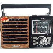 Rádio fm/am/sw1 7 usb sd receptor de 9 bandas tomada pilhas