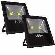 Kit 2 Refletor 100w Wats Iluminação Fachada Piscinas Jardins