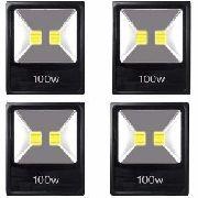 Kit 4 Refletor 100w Wats Iluminação Piscinas Jardins Fachada