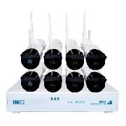 Kit Nvr 8 Câmeras Wireless IP Resolução 720p Luatek LKK-1208