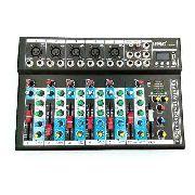 Mesa De Som Mixer Bluetooth Mp3 Player Digital Usb 6 Canais