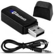Adaptador Receptor Bluetooth Usb Auxiliar P2 Áudio Música Carro Caixa de Som
