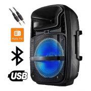 Caixa Som Amplificada Blue Entrada Aux P10 Usb Cartão Sd MP3