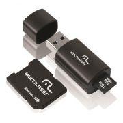 Cartão De 16gb Memória Micro Sd Com 2 Adaptadores Multilaser