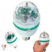 Kit 3 Globinho Iluminação Colorida Rotativa Dj Festas Palcos