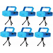 Kit 6 Mini Laser 3d Holográfico Luz Efeitos Especiais Festas
