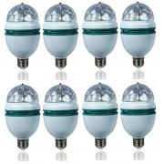 Kit 8 Lampada Colorida Giratória Dj Para Festas Palco evento