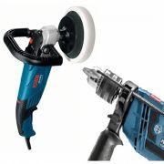 Kit Bosch: Politriz 1400 watts 7p Gpo 14 Ce e Furadeira 650w