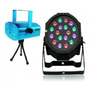 Kit Canhão 18 Led + Mini Lase Par Strobo Digital Rgb Eventos