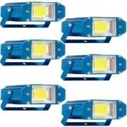 Kit 6 Strobe Xênon Refletor Luz Branco 20w Led Balada